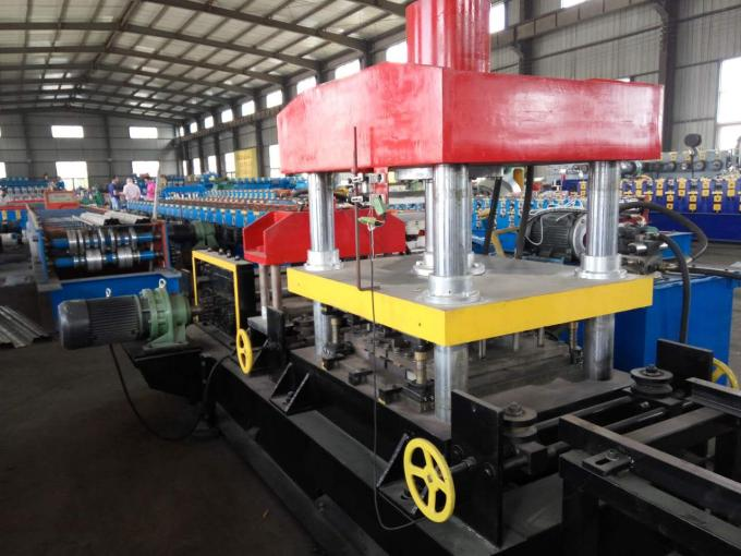 High Efficient Highway Guardrail Roll Forming Machine Two Waves ISO Approved