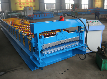 Corrugated / Wave Panel Color Steel Roll Forming Machine For Building Material