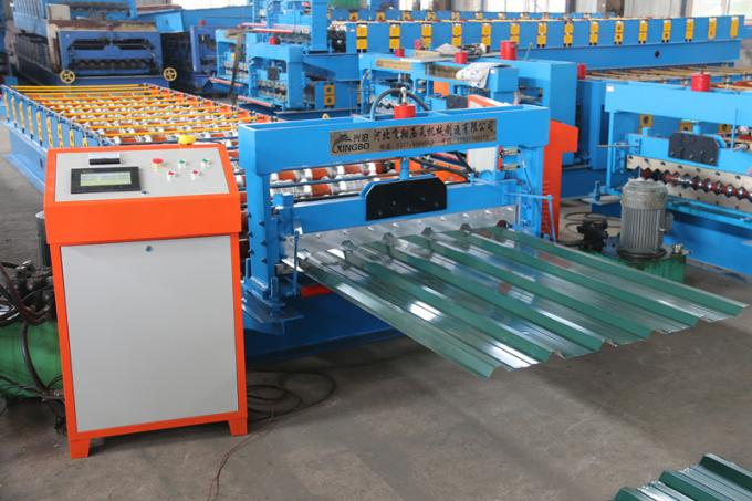 Automatic metal roof roll forming machine , Single roof panel roll forming machine