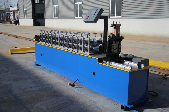 Metal Stud Roll Forming Machine , Wall Angle Steel Frame Roll Forming Machine