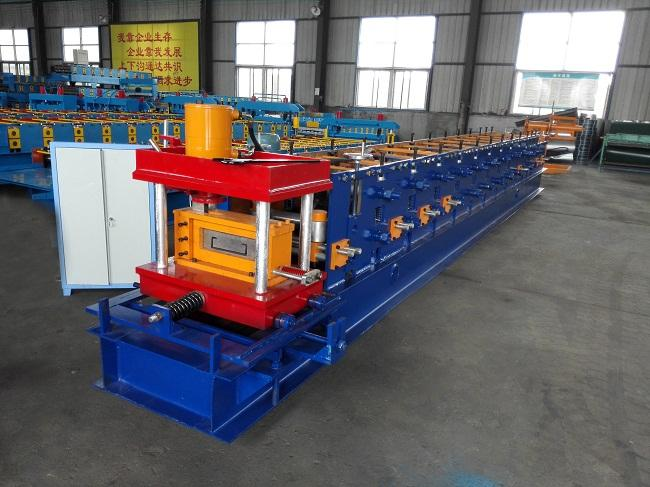 C / U / Z Purlin Roll Forming Machine PLC Control For Steel Structure