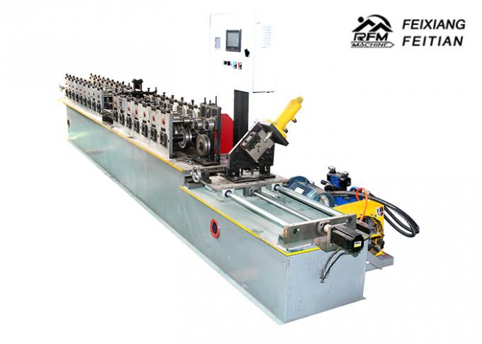 Automatic Main And Cross T Grid Steel Deck Forming Machine 25mm Column Plate Frame