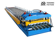 1100 Glazed Tile Roll Forming Machine Stand Column Style For Building Material