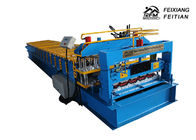 China Professional Glazed Tile Roll Forming Machine PLC Control For Floor Decking factory