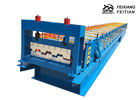 Full Automatic Floor Deck Roll Forming Machine PLC Control For Construction