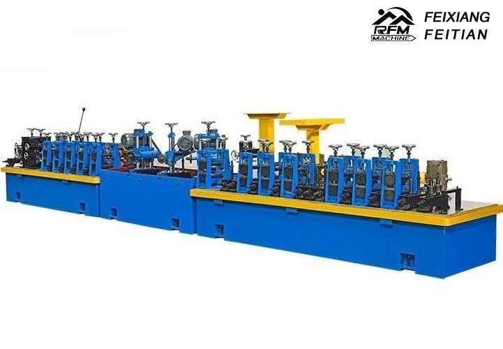 HG50 Carbon Steel Pipe Making Machine FX32 Gear Drive For Cooling