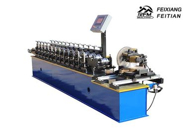 China Aluminum Steel Roller Shutter Door Roll Forming Machine FX98 With Fly Saw factory