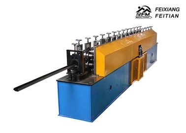 China Metal Steel Door Frame Roll Forming Machine , PLC Control Window Frame Making Machine factory