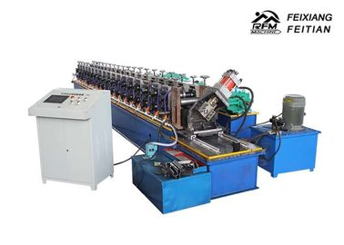 Column Style Cable Tray Manufacturing Machine / Bracket Frame Roll Forming Machine