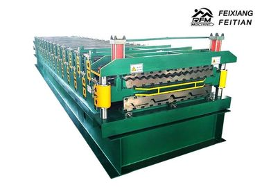 China Double Deck Roll Forming Machine , Color Steel Sheet Metal Roofing Machine factory