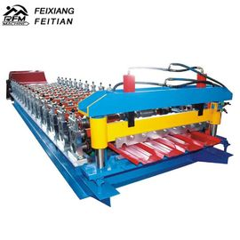 China Galvanize Aluminium Iron Color Steel Roll Forming Machine 8-12/Min Working Speed factory