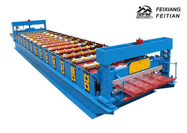 China Hihg Power Metal Roof Trapezoidal Sheet Roll Forming Machine Delta PLC Control factory