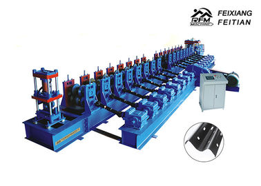 China Automatic Guard Rail Roll Forming Machine , Highway Guardrail Making Machine factory