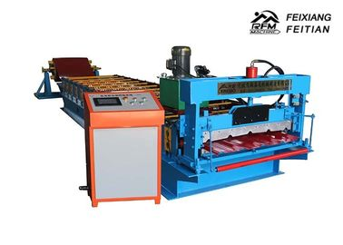 China Sheet Metal Roll Forming Machines / Roof Tile Making Machine 1 Year Warrantee factory