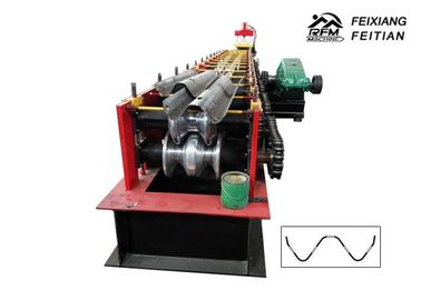 Professional Highway Guardrail Roll Forming Machine 2 / 3 Waves Guardrail Machine